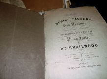 ANTIQUE SHEET MUSIC SMALLWOOD PANSY RONDO & LITTLE SWEETHEART + IRISH QUADRILLE